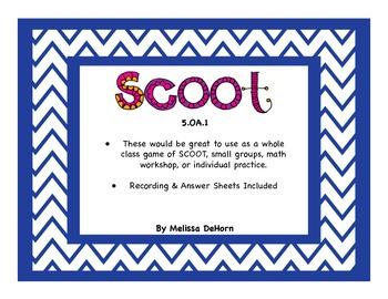 5.OA.1 Common Core Math SCOOT/Task Cards