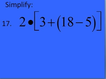5.OA.1 Intro to Order of Operations