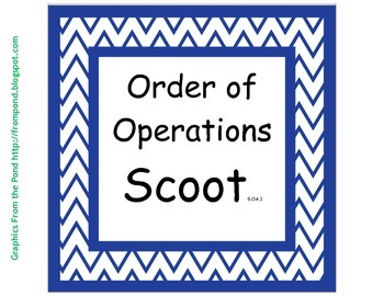 5.OA.1 Order of Operations Scoot