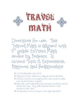 5.OA.1 TRAVEL MATH - Algebraic Operations
