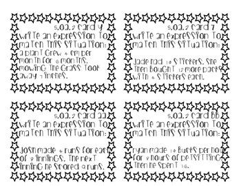 5.OA.1 and 5.OA.2 Task Cards