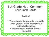 5.OA.2 Common Core Math Task Cards
