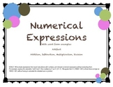 5.OA.2 Numerical Expressions