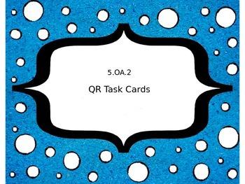 5.OA.2 QR Activity