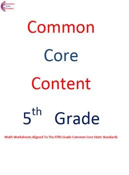 5.OA.A.1, 5.OA.A.2, 5.OA.B.3 Fifth Grade Common Core Math Sheets Operations