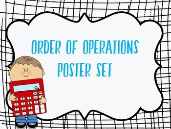 5.OAA.1 and 5.OAA.2- Order of Operations Posters