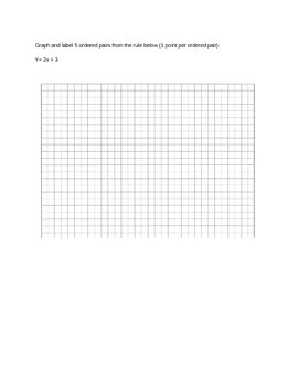 Common Core (5OAB3) Function Tables Quiz