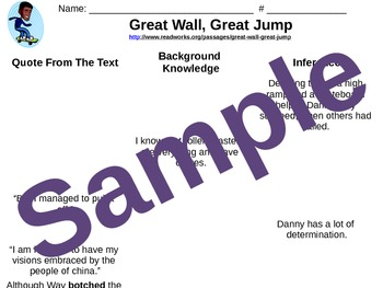 5.RI.1  Great Wall, Great Jump Inferencing