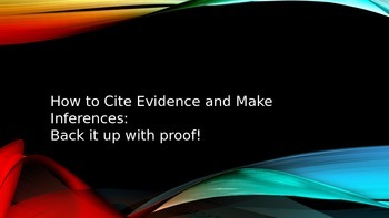 5.RL.1: Citing Evidence & Inferences Powerpoint