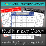 Real Number Mazes~Rational~Irrational~Integer~Google Drive Interactive Activity