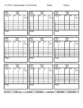 5T-3R Fill In (trials) Data Sheet