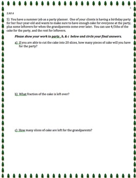 5TH GRADE 2nd QUARTER Common Core Math Assessment (ANSWER KEY INCLUDED)