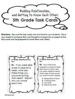"5th Grade ""Back to School"" Unit, Introduction, Procedures, And More"