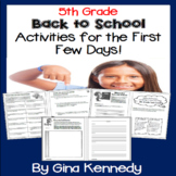 "5th Grade ""Back to School"" Unit, Introduction, Procedures,"
