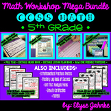 5TH GRADE COMMON CORE MATH WORKSHOP MEGA BUNDLE {EDITABLE