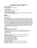 5TH GRADE GO MATH Ch. 7 Unit Lesson Plans