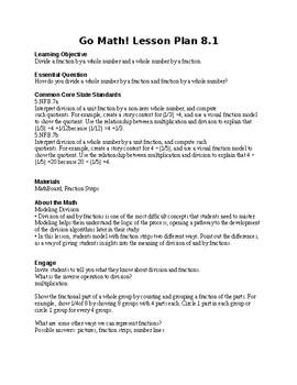 5TH GRADE- GO MATH CHAPTER 8 (FULL UNIT PLANS)