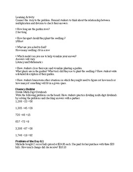 5TH GRADE GO MATH Ch. 8 Unit Lesson Plans