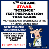 5th Grade Science STAAR Test-Prep Task Cards, Practice Questions