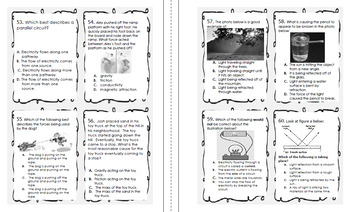 5th Grade STAAR Science Test-Prep Task Cards, Practice Questions