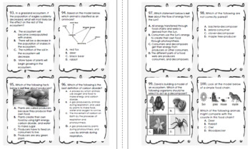 5th Grade Staar Science Test Prep Task Cards Practice Questions