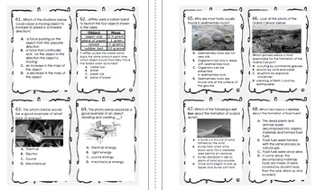 This is a picture of Hilaire 5th Grade Science Test Printable