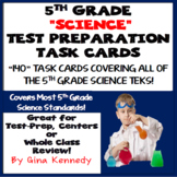 5th Grade Science Test-Prep Task Cards: Review All Standards!