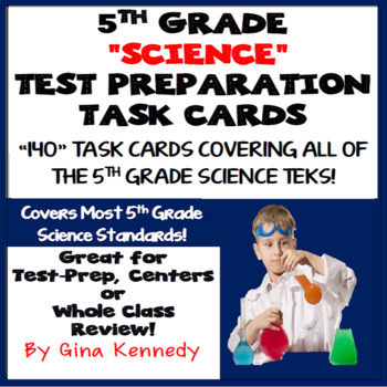 5th Grade Science Test Preparation Task Cards: All Standards!