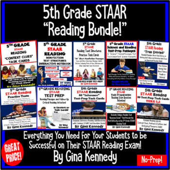 5th Grade STAAR Reading BUNDLE
