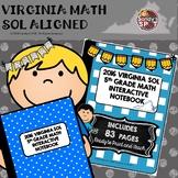 5TH Grade Math 2016 Virginia SOL Interactive Notebook
