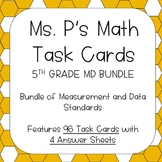 5TH Grade Measurement and Data Task Cards - ALL Standards