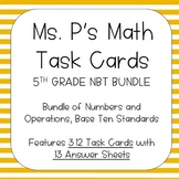 5TH Grade Numbers and Operations, Base Ten Task Cards - AL
