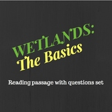 5TH Grade Wetlands Reading Passage and Question Set