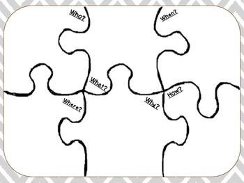5W & H: Graphic Organizer Template