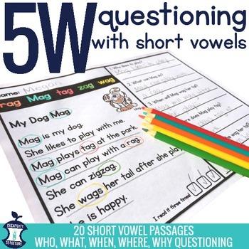 5W Short Vowel Comprehension Passages