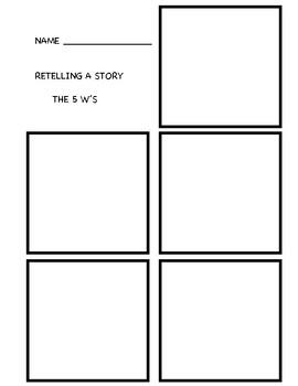 5W Worksheet/Template