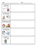 5Ws Graphic organizer