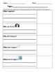 5Ws Questions graphic organizer