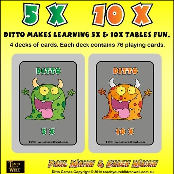 5X and 10X tables fun with Ditto