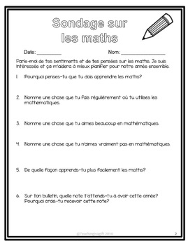 GRADE 5 MATH DIAGNOSTIC ASSESSMENT: FRENCH EDITION: ONTARIO CURRICULUM