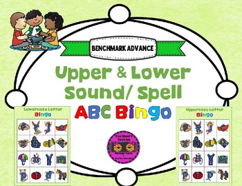 5h. Benchmark Advance Sound Spell ABC Upper/Lowercase Bingo (2 Sets)