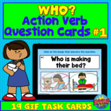 50% OFF for 24HRS Verb Question Boom Cards™- WHO? - ABA Th