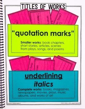 5th Grade Language Interactive  Notebook  Grammar Interactive Notebook