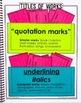 5th Grade Language Interactive  Notebook  Grammar Interact