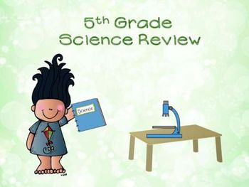 5th Grade Science Test Prep Review PowerPoint game