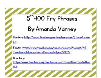 5th 100 Fry Phrases