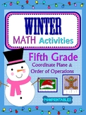 5th & 6th - 2 Winter/Christmas Math Coloring Activities! - Hat and Gingerbread