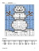 5th & 6th - 2 Winter/Christmas Math Coloring Activities! - Snowman and Presents