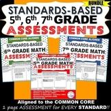 5th, 6th, 7th Grade Math Standards Based Assessments BUNDL