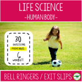 5th - 6th Grade Science Bell Ringers / Exit Slips - Human Body